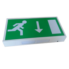 Indoor Steel Casing LED Running Man Exit Sign Wall Surface Maintained Operation