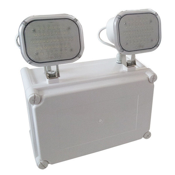 Waterproof Twin Spot Emergency Lights , Fireproof PC Casing LED Emergency Lamp